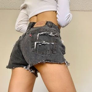 Levi's 501 vintage cut off shorts